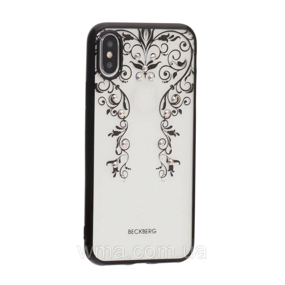 Чехол Beckberg Monsoon Series for Apple Iphone X Цвет Цветочная Лоза, Чёрный