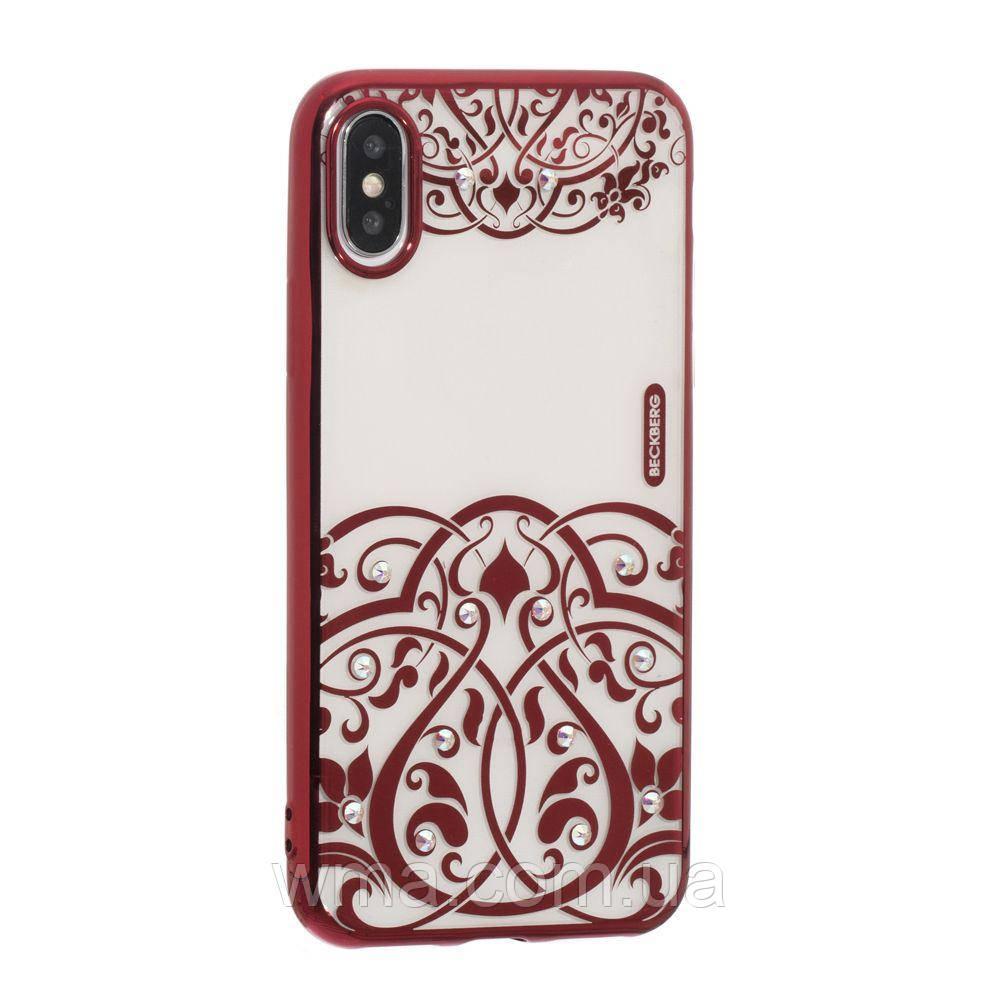 Чехол Beckberg Monsoon Series for Apple Iphone X Цвет Лунная Ночь, Красный