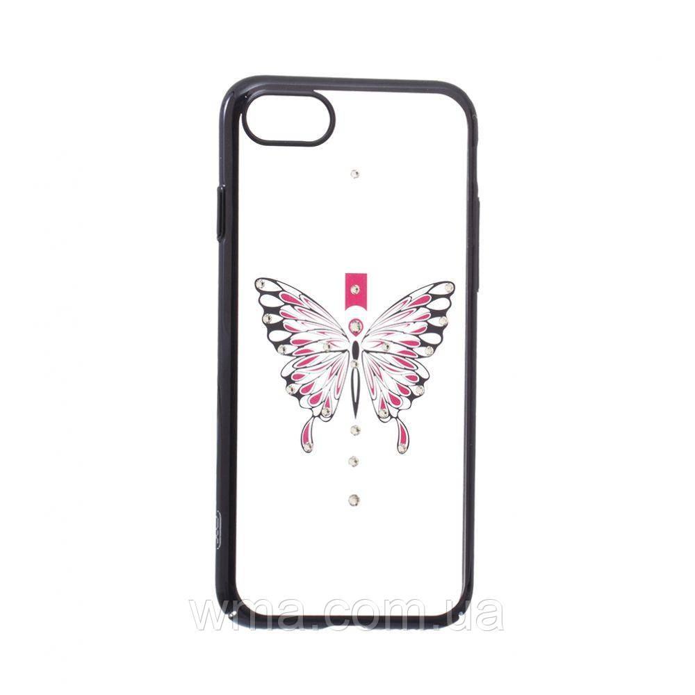 Чехол Simple Beauty Butterfly Series for Apple Iphone 7G Цвет Чёрный