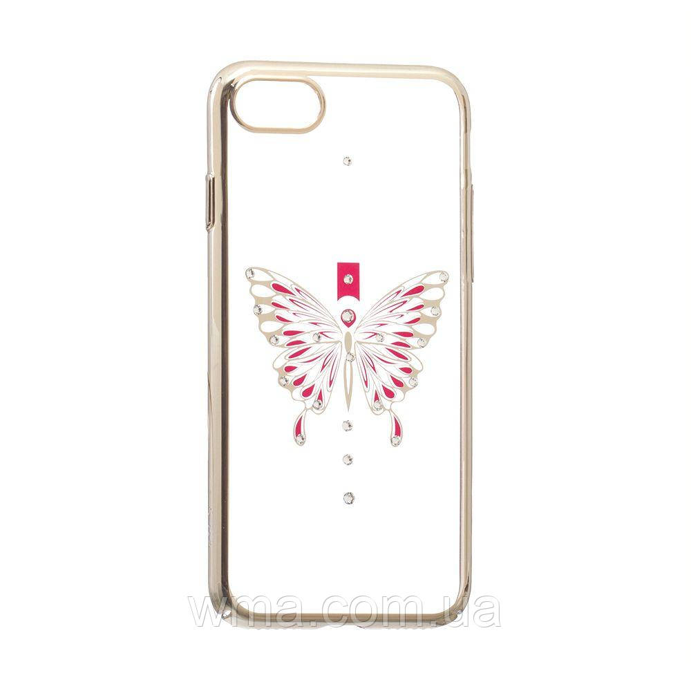 Чехол Simple Beauty Butterfly Series for Apple Iphone 7G Цвет Золотой