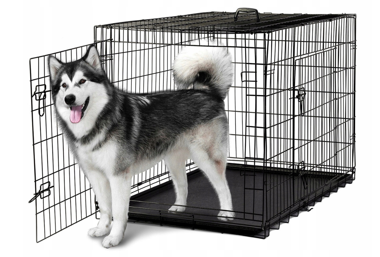 Металева клітка переноска для собак Dog carrier XXL 122x76x83