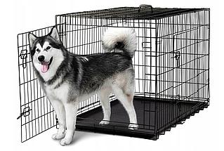 Металлическая клетка Dog Сarrier XXL переноска для собак размером 122 x 76 x 83 см