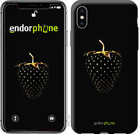 Пластиковый чехол Endorphone на iPhone XS Черная клубника 3585m-1583-26985, КОД: 1753529
