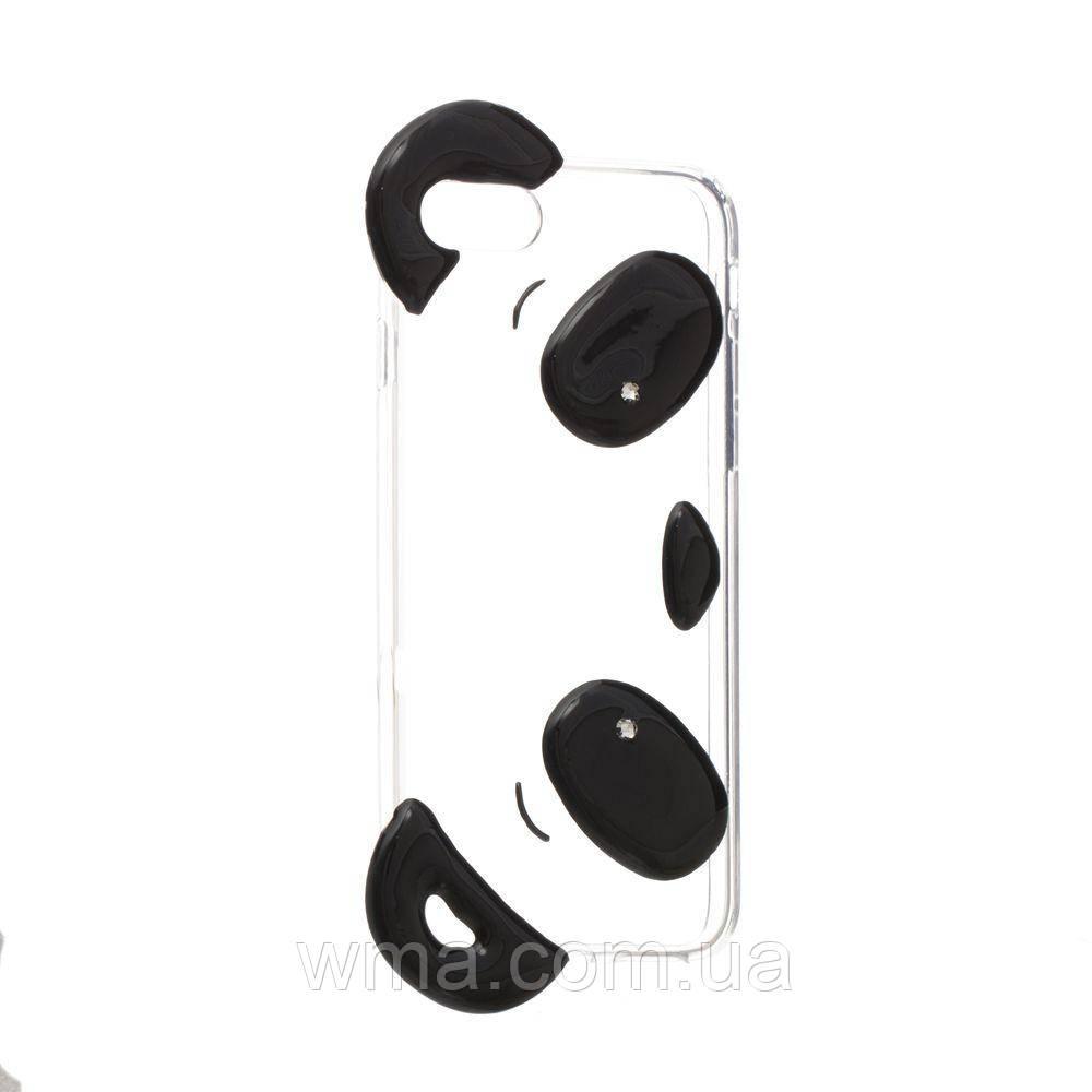 Чехол Panda for Apple Iphone 7G Цвет Прозрачный Чёрный