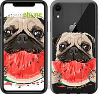 Пластиковый чехол Endorphone на iPhone XR Мопс и арбуз 4665m-1560-26985, КОД: 1754129
