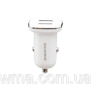 Авто Зарядное Устройство Borofone BZ12 2.4A Lightning 2 USB Цвет Белый
