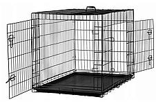 Металева клітка переноска для собак Dog carrier XXL 122x76x83, фото 2