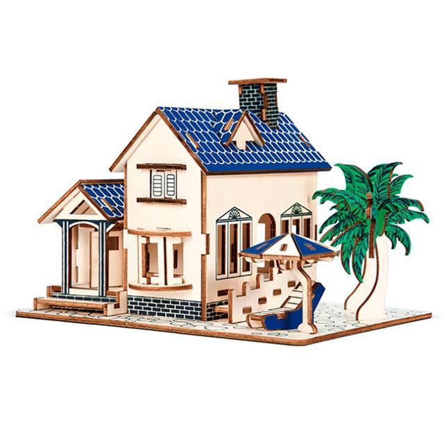 Деревянный пазл 3D - Дом у моря