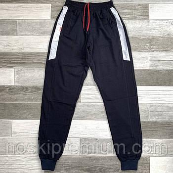 Штаны спортивные мужские хлопок с манжетом Fila, размеры 46-54, тёмно-синие, СМ 0110/03