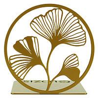 Упор для книг Glozis Ginkgo Bronze G-040 14х14 см G-040, КОД: 1529571