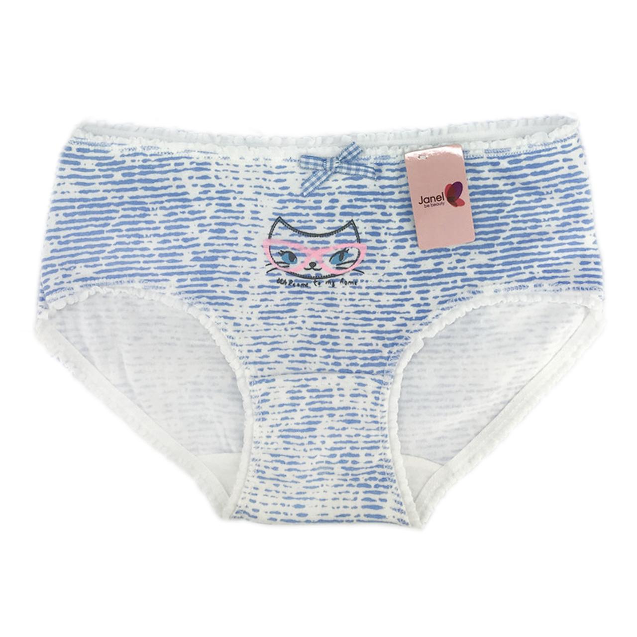 Труси жіночі бавовняні Котик Janel, блакитні р. F,M,L,XL