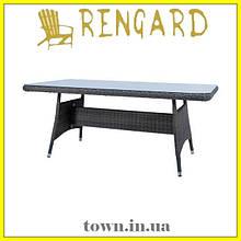 Обеденный стекляный стол MALTA RGTF 1003-2 Rengard. Стол для улицы,для террасы,для дома,для кухни