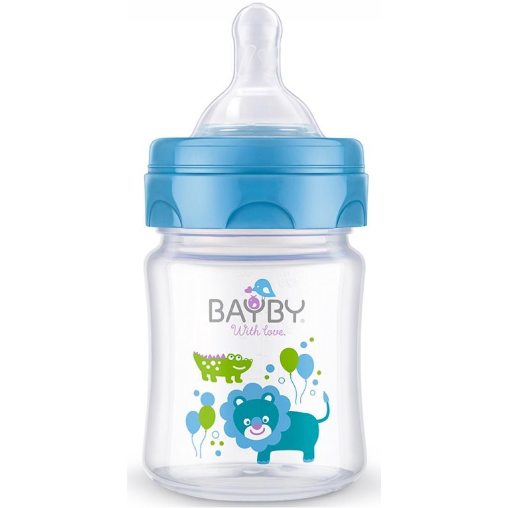 Бутылочка для кормления BAYBY 120 мл 0 мес+ синий (BFB6101)