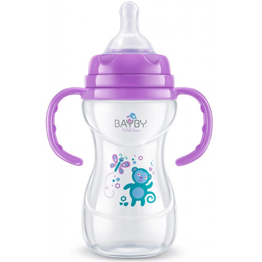 Бутылочка для кормления BAYBY 240 мл 6 мес+ фиолетовый (BFB6107)