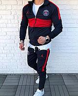 Спортивный костюм мужской черный Jordan PSG