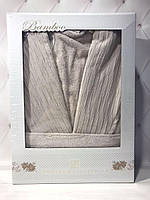 Бамбуковый халат Pupilla бежевый в размерах