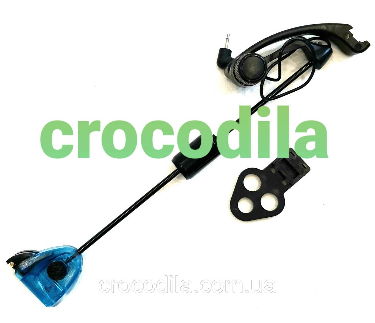Механический сигнализатор серия Black на жесткой штанге с системой коромысло синий