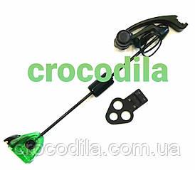 Механический сигнализатор серия Black на жесткой штанге с системой коромысло зеленый