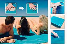 Пляжная подстилка-покрывало на море Антиписок 190х140 см | Коврик для пикника Sand Free Mat, фото 2
