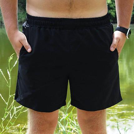 Мужские пляжные шорты черного цвета, фото 2