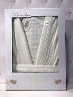 Бамбуковый халат Pupilla кремовый в размерах