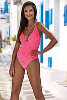 Яркий купальник цельного типа TM Lorin розового цвета. Размер:36/70, 38/75, 40/80,42/85