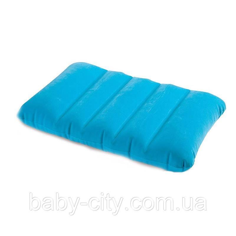 Надувная, велюровая, прямоугольная подушка Intex 68676 NP (43х28х9 см), 4 цвета