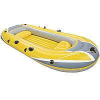 Двухместная надувная лодка Bestway 61066 Желтая, 307*126*43 см