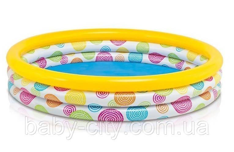 Детский надувной бассейн Intex «Геометрия» 58449 (168*38 см)