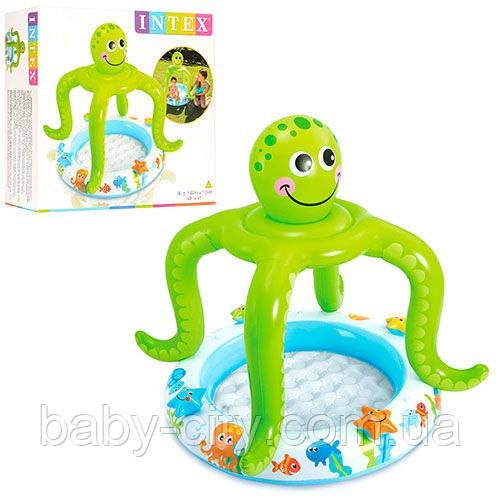 Бассейн надувной детский «Осьминожка» Intex 57115 (102*104 см)