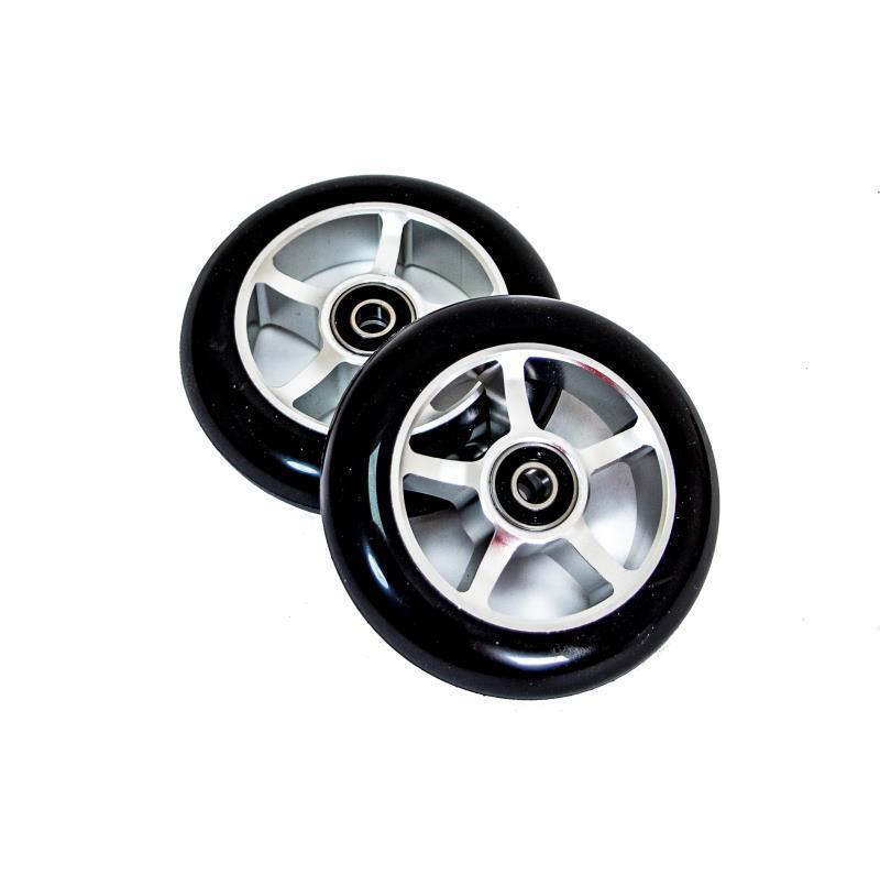 Колеса для трюковых самокатов с алюминиевыми спицами, 2 цвета