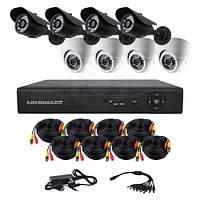 Комплект из 4-х уличных и 4-х купольных AHD камер CoVi Security AHD-44WD KIT