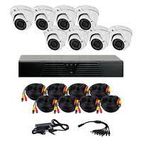 Комплект AHD видеонаблюденияCoVi Security HVK-4006 AHD PRO KIT з 8-ми купольних камер