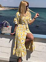Платье женское летнее жёлтое