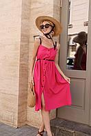 Стильное платье женское летнее на бретелях 42-44, 44-46