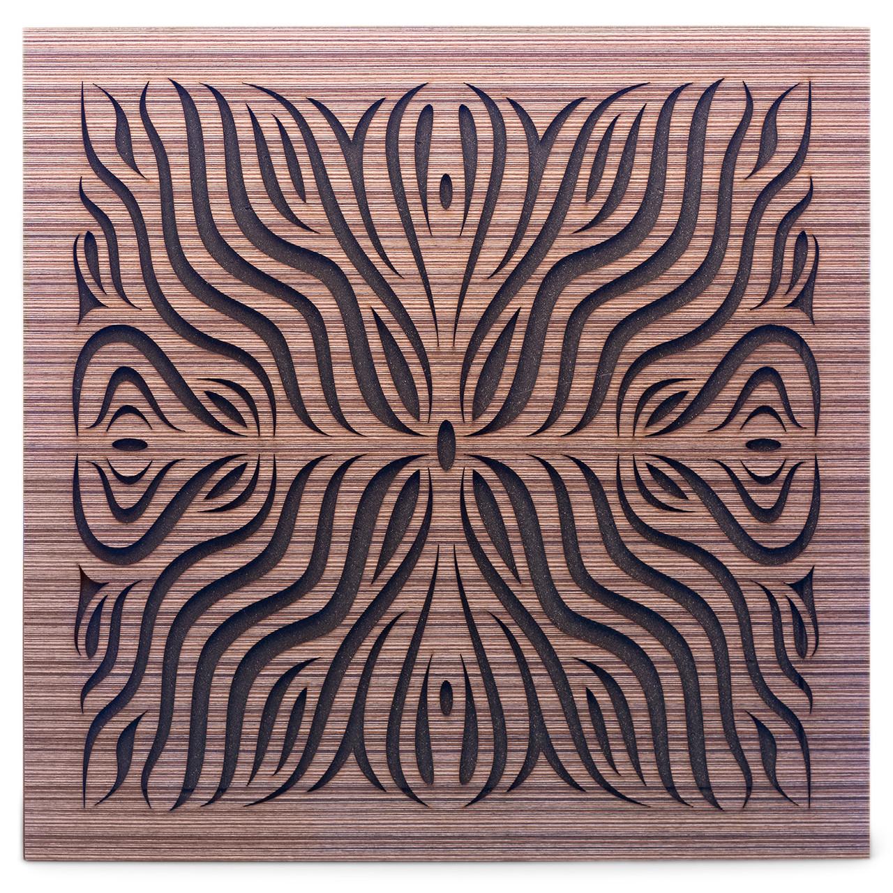 Акустическая панель Ecosound Chimera F Venge Contrast 50x50см 73мм Цвет коричневый в полоску
