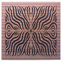 Акустическая панель Ecosound Chimera F Venge Contrast 50x50см 73мм Цвет коричневый в полоску, фото 1