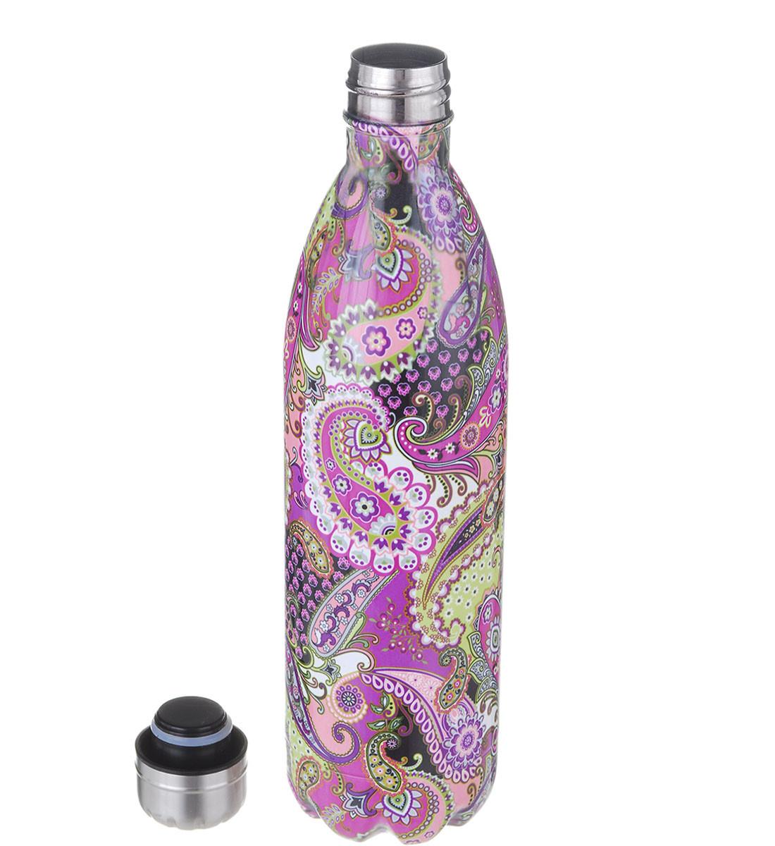 Термос бутылка A-PLUS 1 л (0954) Ажурный принт (4671)