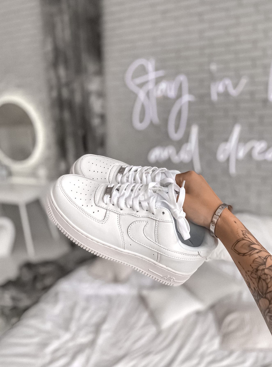 """Женские кроссовки Nike Air Force """"All White"""""""
