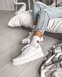 "Женские кроссовки Nike Air Force ""All White"", фото 3"