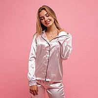 """Пижама с кантом """"Светло-розовый""""  Пижамы для сна. Одежда для сна и дома женская"""