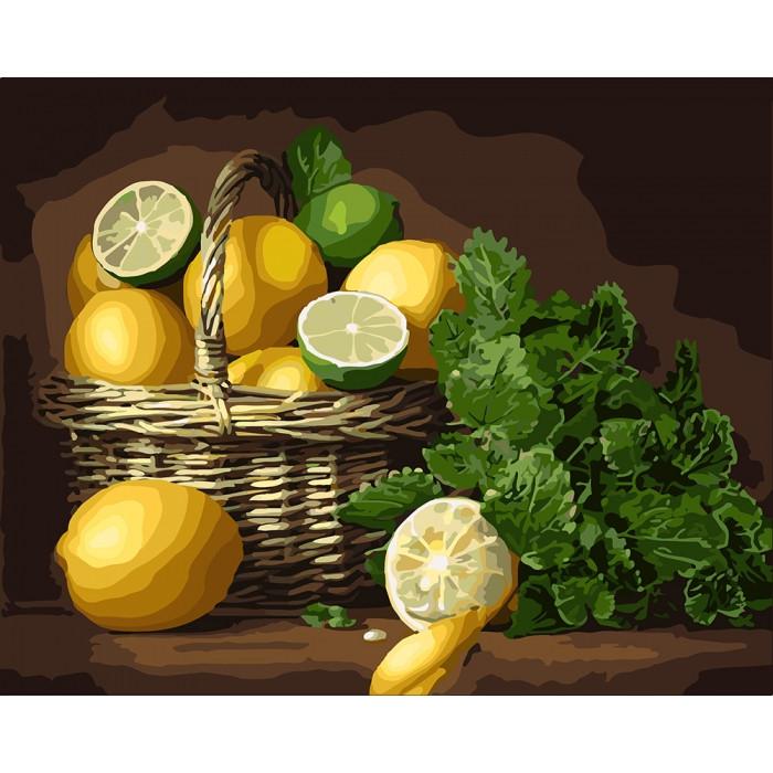 Картина по номерам Лимонное настроение ТМ Идейка 40 х 50 см  КНО5589