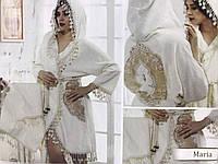 Набор подарочный бамбуковый халат и 2 полотенца Miss Bella Julia Турция кремовый