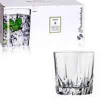 Широкий стеклянный стакан для виски в подарочной упаковке Pasabahce Карат 300 мл 6 шт (52885)