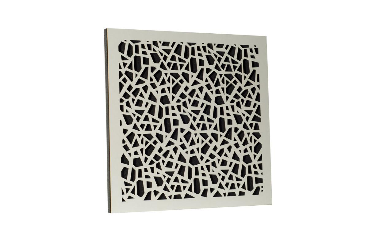 Акустическая панель Ecosound EcoArt white 50х50 см 53 мм цвет белый