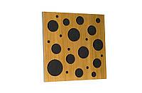Акустическая панель Ecosound EcoBubble Cream 50х50см 33мм цвет светлый дуб, фото 1