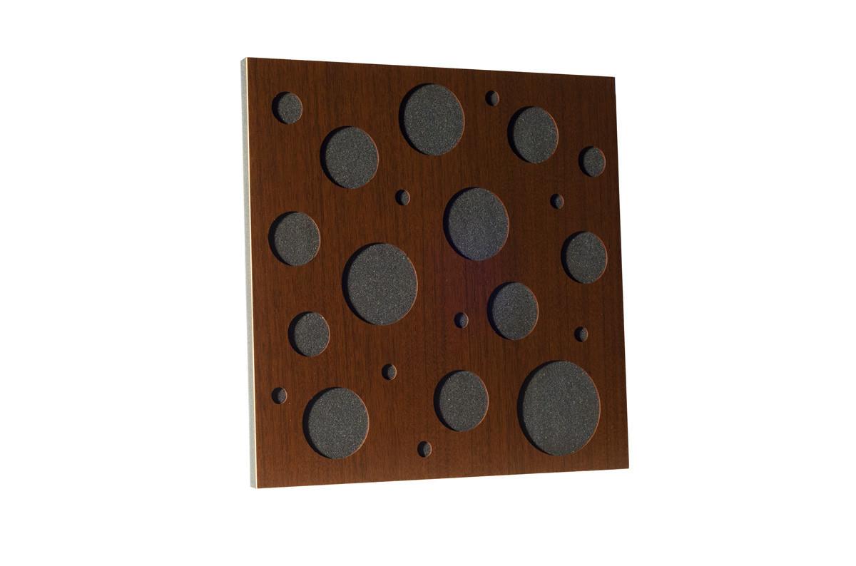 Акустическая панель Ecosound EcoBubble Brown 50х50см 73мм цвет коричневый