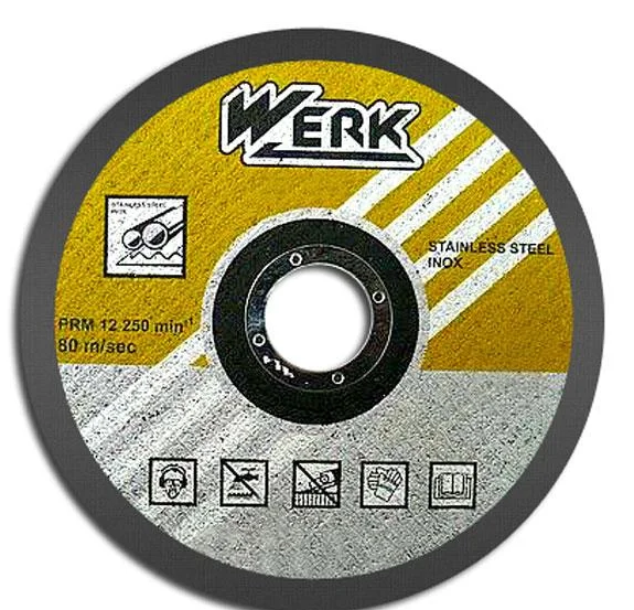 Диск  отрезной по металлу  WERK Ø 125 х1.2х22.23 мм.