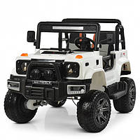 Детский электромобиль Джип Jeep Wrangler М 4178-1 Белый для мальчика девочки 3 4 5 6 7 8 лет полный привод