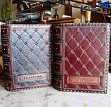 Блокнот ежедневник кожаный заказ надпись ручной работы формат A5 оригинальный подарок, фото 7